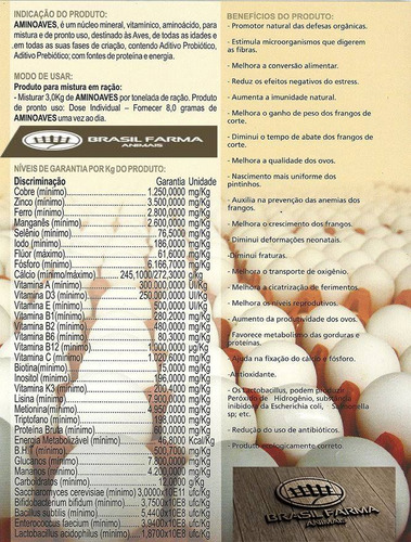 aminoaves agrocave 20 kg ração aves galinhas granja pintinho