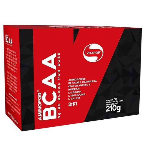 aminofor bcaa 30 saches - vitafor - sabores