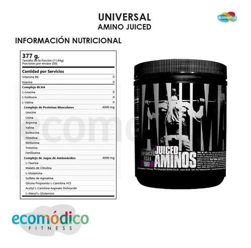 aminos juiced universal 377grs bcaa taurina