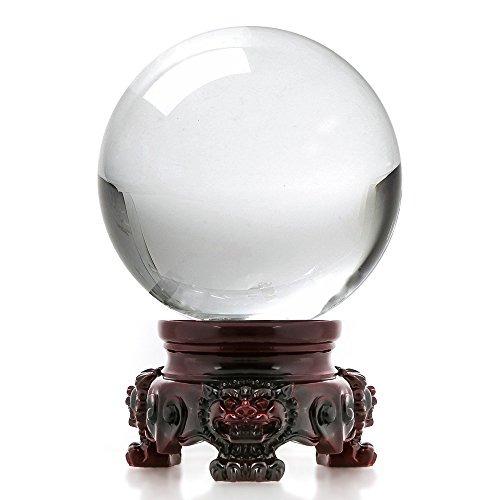 Amlong cristal de 3 pulgadas 80 mm de la bola de cristal for Bolas de cristal decorativas