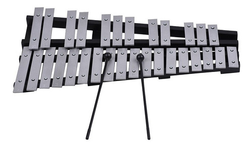ammoon 30 note glockenspiel xilófono marco de madera inst