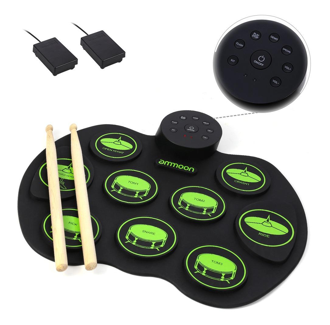 Ammoon Digital Roll-up Touch - Batería Electrónica Portátil
