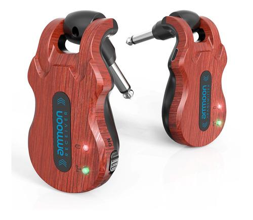 ammoon sistema de guitarra inalámbrica audio digital guitarr