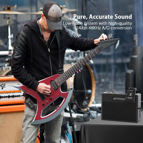 ammoon transmisor y receptor para guitarra 6 canales