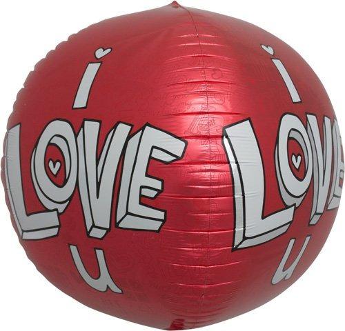 amo el globo la hoja helio la esfera u doodles 17 pulgadas