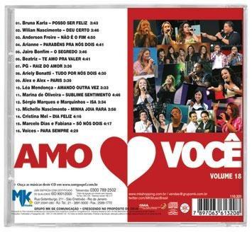 amo você - vol.18 *lançamento* - vários - cd - mk music