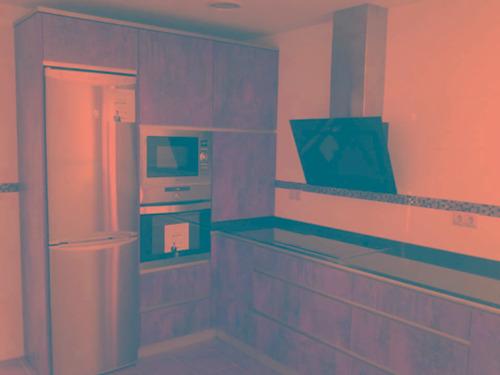 amoblamiento de cocina color oxido
