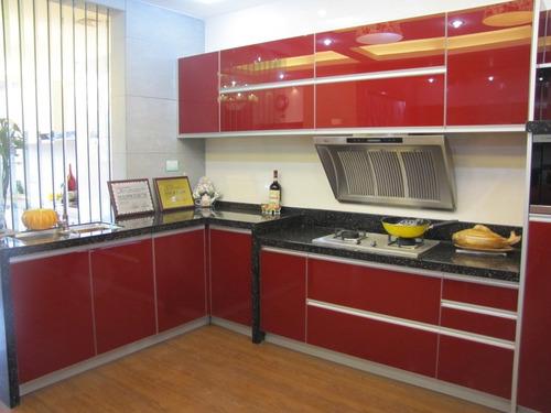 amoblamientos de cocina completo frentes de rauvisio, mesada