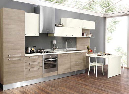 Amoblamientos de cocina en madera lustrada y laqueada for Amoblamientos as