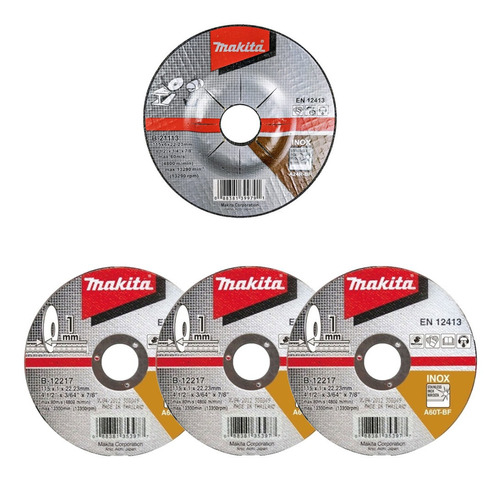 amoladora 115mm nebraska nemea06115 700w + discos makita