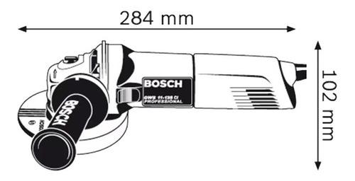 amoladora angular 125mm bosch gws 11-125 1100w alemana