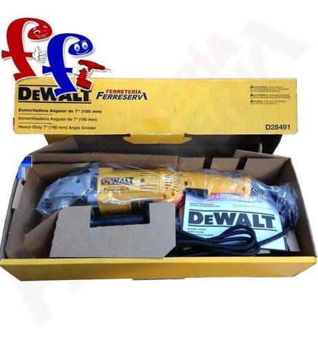 amoladora angular 7 dewalt d28491 industrial+lentes+guantes