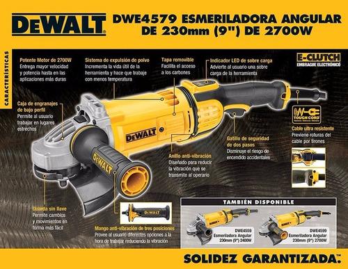 amoladora angular 9 pulgadas 230mm 2700w dewalt dwe4579 dewalt dwe4579-ar