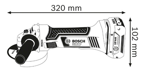 amoladora angular a batería gws 18 v-li - bosch 115mm