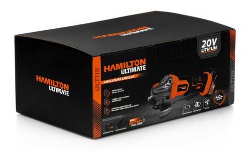 amoladora angular bateria 115mm 20v hamilton ult115 cuotas