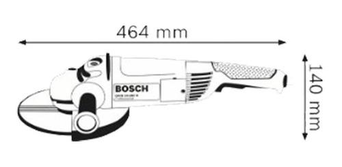 amoladora angular bosch 180 mm gws 24-180 2.400 watts