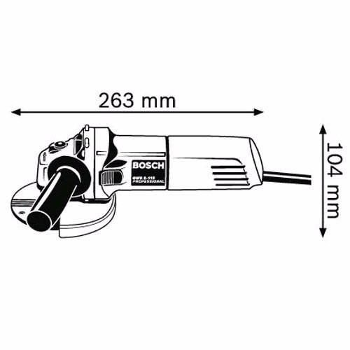 amoladora angular bosch gws 6 115 670w 4 1/2''