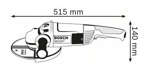 amoladora angular bosch professional gws 22-230 2200w 230mm
