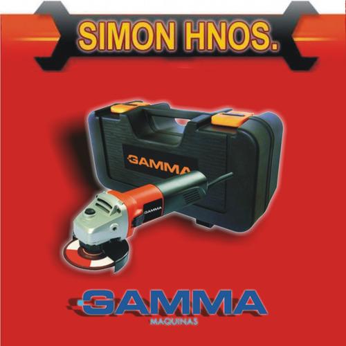 amoladora angular c/ kit 4 1/2  500w gamma hg076k simon hnos