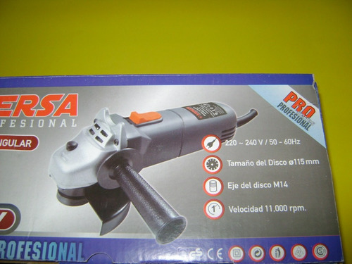amoladora angular  de 115 mm 600 watts (garantia 1  años )