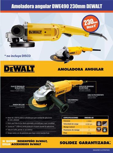 amoladora angular dewalt 9pulg 230mm 2000w 6500 rpm dwe490