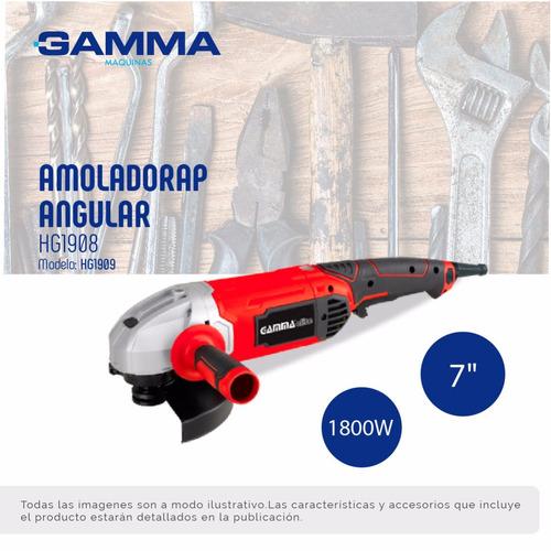 amoladora angular gamma hg1909 elite180mm 7p 1800w 6 ctas e