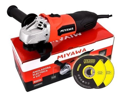 amoladora angular miyawa aa60m 600w 115mm + 2 discos !!!