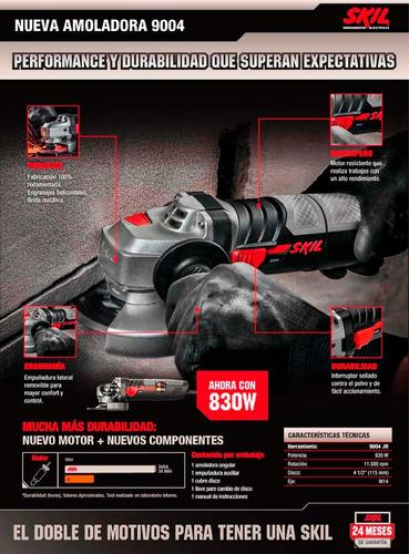 amoladora angular nueva skil 9004 115 mm 41/2 830 watts