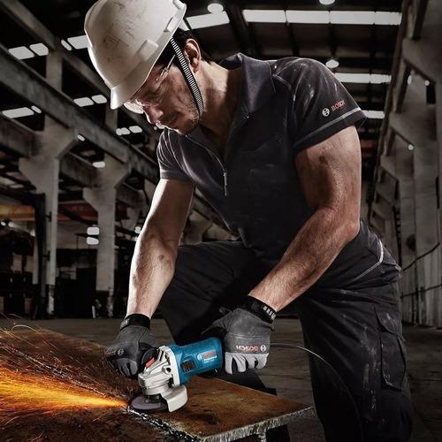 amoladora angular profesional bosch gws 850 850w + guantes