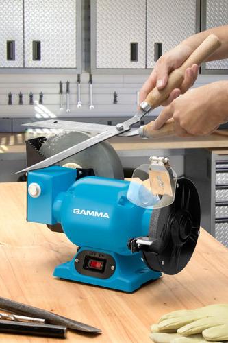 amoladora de banco combinada gamma con afilador 1/2 hp 1686