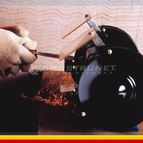 amoladora de banco gamma 350w 2 piedras 150mm  profesional
