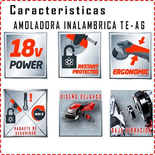 amoladora inalambrica einhell + taladro atornillador + kit