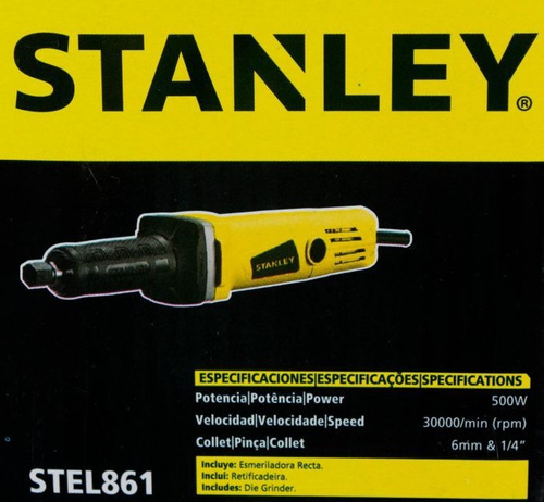 amoladora recta 40mm 500w stanley stel861 stanley