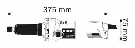 amoladora recta marca bosch modelo ggs 28 lce