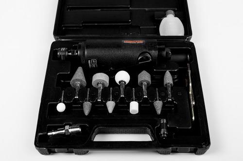 amoladora recta neumática enc 1/4 kit 14pcs hamilton+cutter