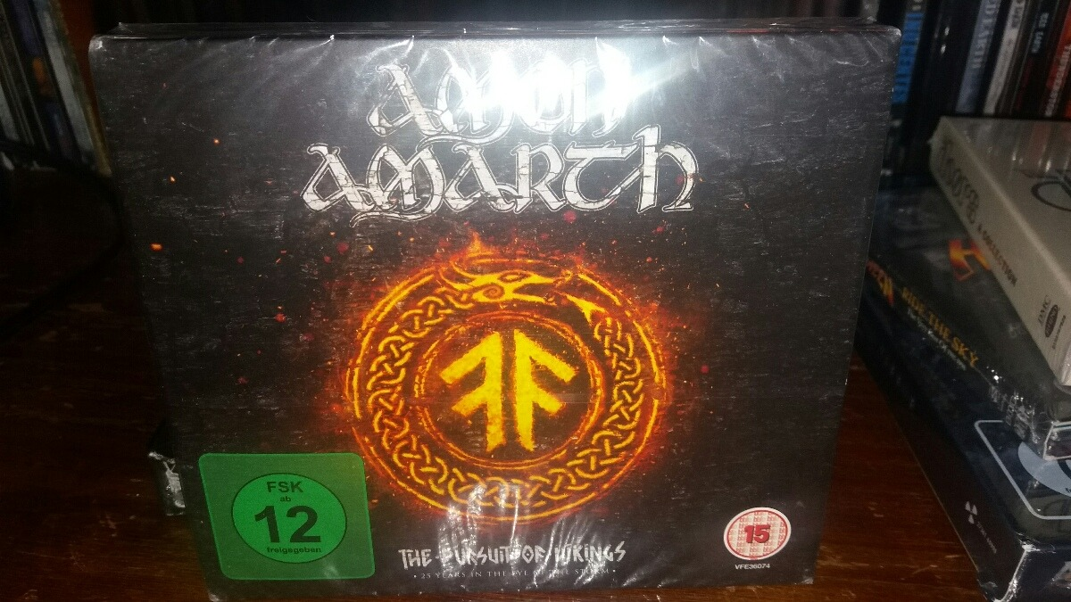 Amon Amarth Box The Pursuit Of Vikings Blu Ray + Cd