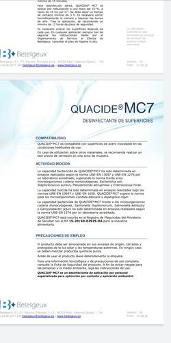 amonio cuaternario 5ta generación certificado