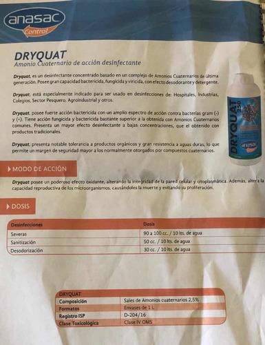 amonio cuaternario dryquat 250 1l