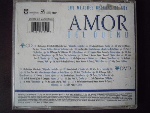 amor del bueno cd+dvd las mejores baladas de hoy