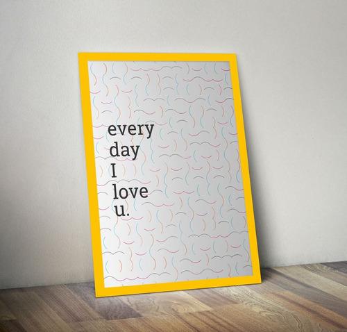 amor diário (amarelo, 20x30cm)