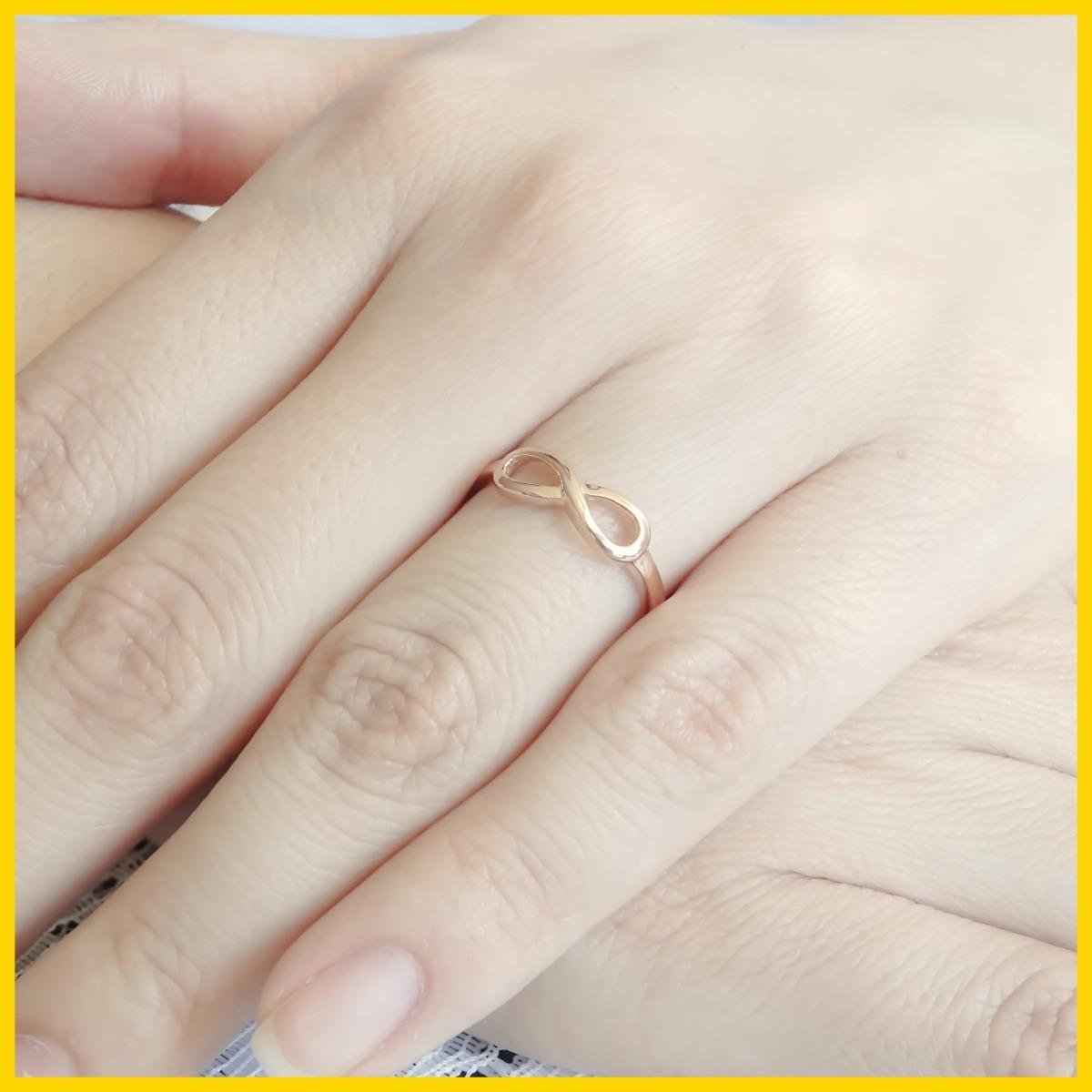 bc2052664f64 amor eterno - anillo infinito ch   oro 10k   personalízalo! Cargando zoom.