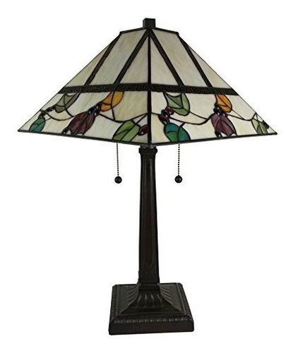 amora lighting am301tl14 tiffany style berriesleaves mission