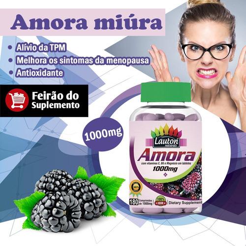 amora miura 180 cápsulas 1000mg alivia tpm menopausa lauton