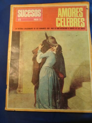 amores celebres, revista sucesos.