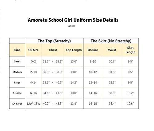 amoretu  falda de lenceria para mujer para escuela uniforme