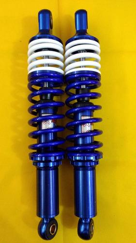 amortecedor aluminio azul mola branca titan 125/150/fan/ybr