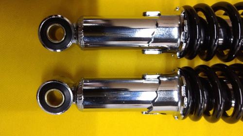 amortecedor cromado traseiro titan 150