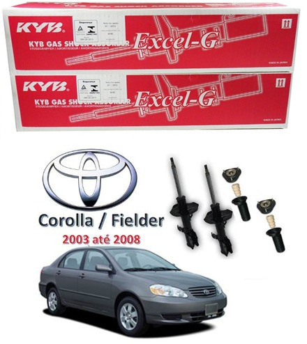 amortecedor dianteiro kit corolla 03..08 original kayaba
