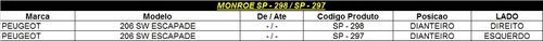 amortecedor dianteiro monroe 206 sw escapade sp297/298(par)