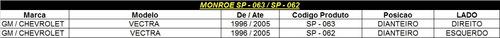 amortecedor dianteiro monroe vectra 96/05 sp062/063(par)